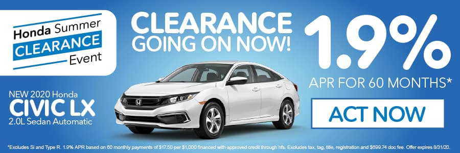 2020 Honda Civic LX 1.9% apr for 60 months | Act Now