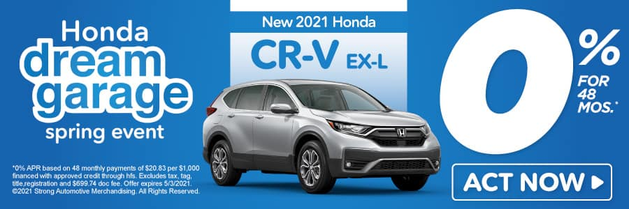 New 2021 Honda CR-V - 0% APR for 48 months - Act Now