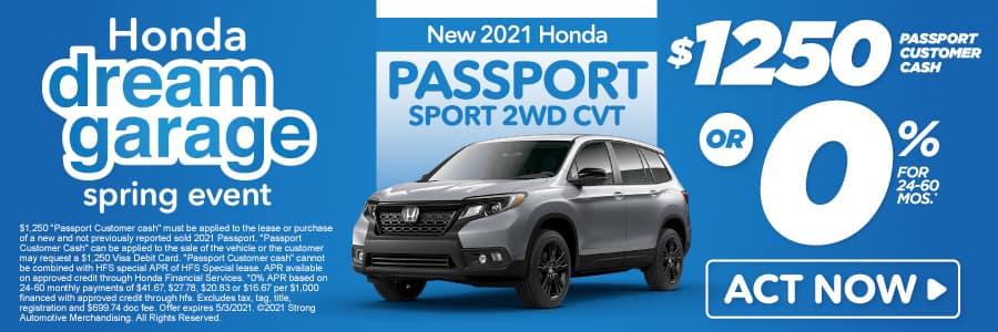 New 2021 Honda Passport - $1250 Passport customer cash - Act Now