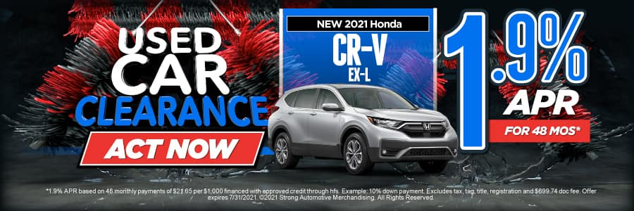 New 2021 Honda CR-V - 1.9% APR for 48 months - Act Now