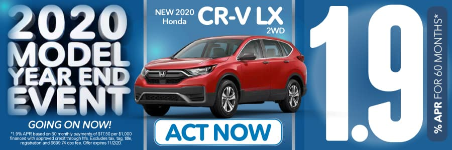 2020 Honda CR-V LX 1.9% for 60 months | Act Now