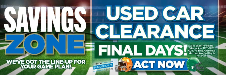 Used Car Clearance Final Days | Act Now