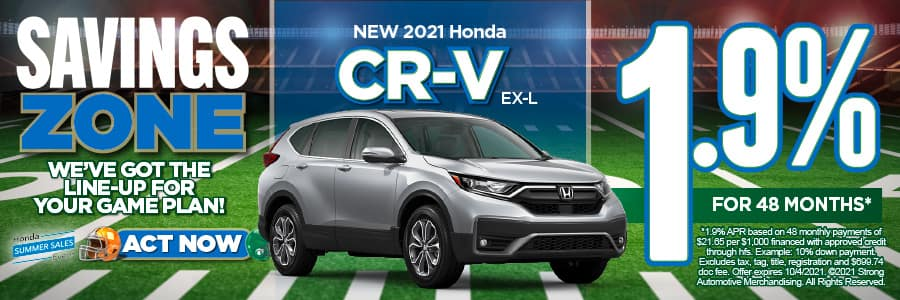 New 2021 Honda CR-V - 1.9% APR for 60 months - Act Now