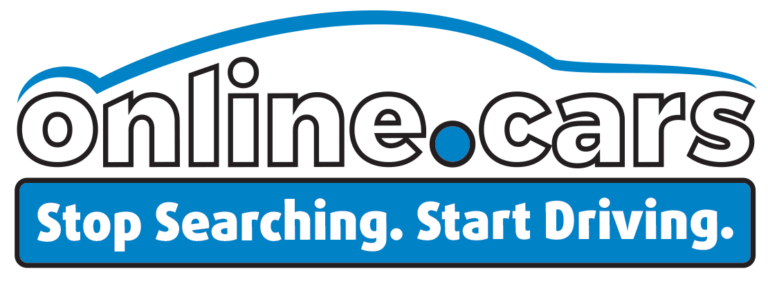 The Online.cars logo. Stop Searching. Start Driving