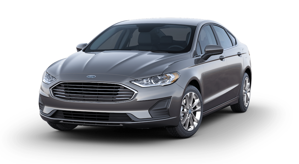 Grey 2019 Used Ford Fusion Model angled left