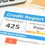 A bad credit report.