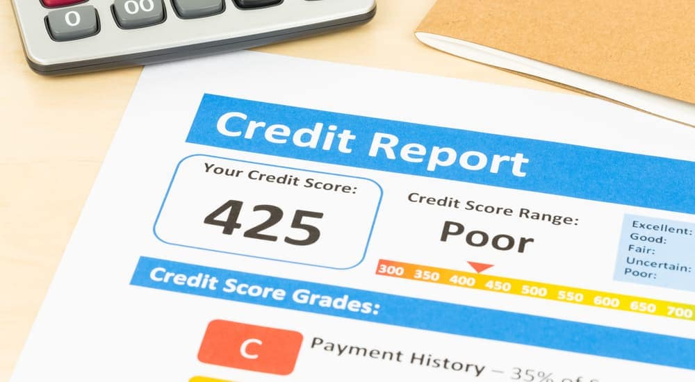A bad credit report.