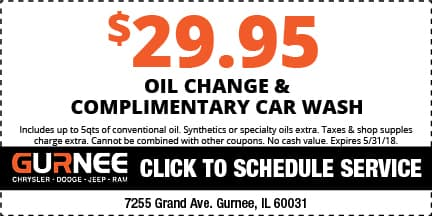 Oil Change Coupons Auto Service Coupons Gurnee Chrysler Jeep Dodge Ram