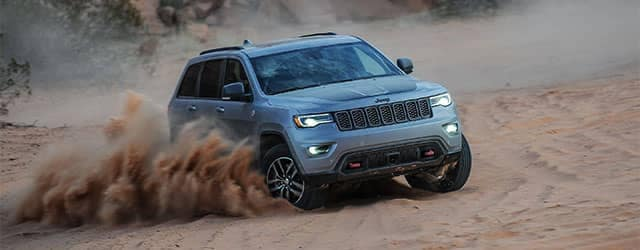 2018 Jeep Grand Cherokee Trailhawk in the Sand