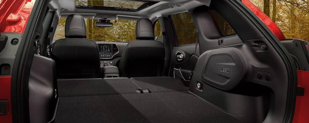 2019 Jeep Cherokee Trailhawk Interior Empty with 60/40 split folding seats laid down