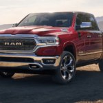 2019 RAM 1500 with a Red Exterior