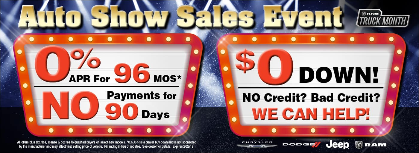Auto Show Sales Event Offers
