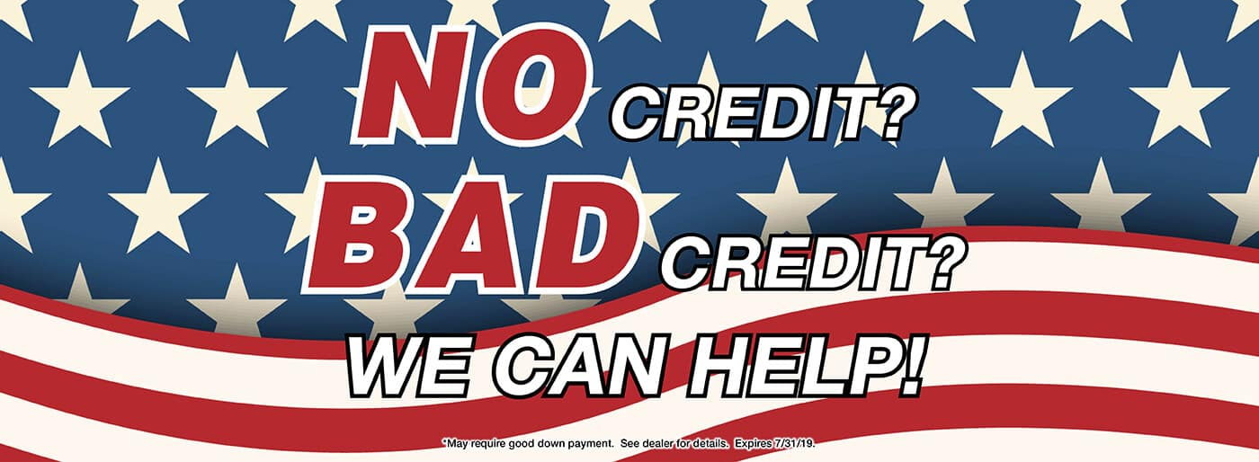 Bad Credit, We can help!