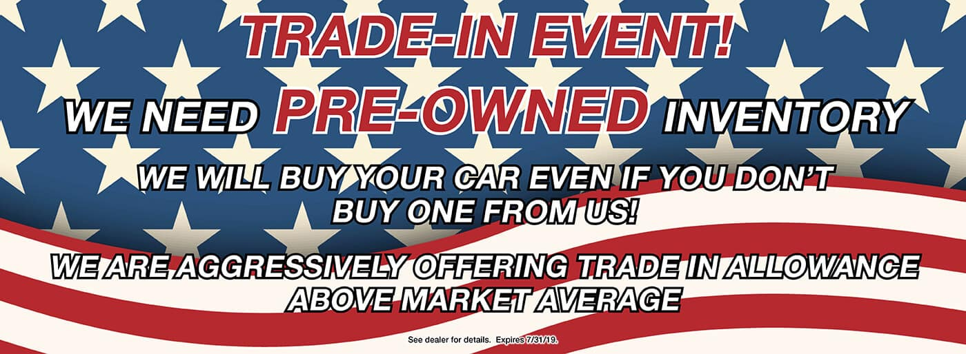 Trade Your vehicle in with us!