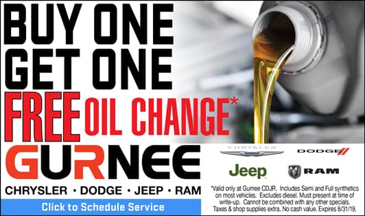 Buy one oil change, get one free