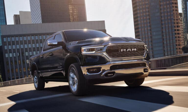 2019 Ram 1500 exterior driving in city