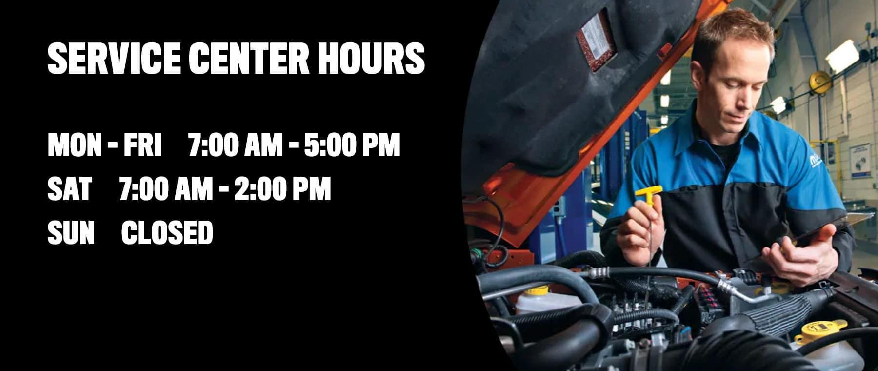Gurnee CDJR Service Hours