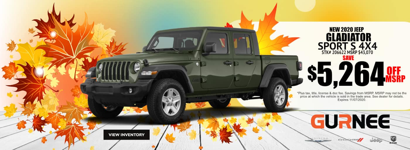 October-2020-2021 Jeep Gladiator_Gurnee