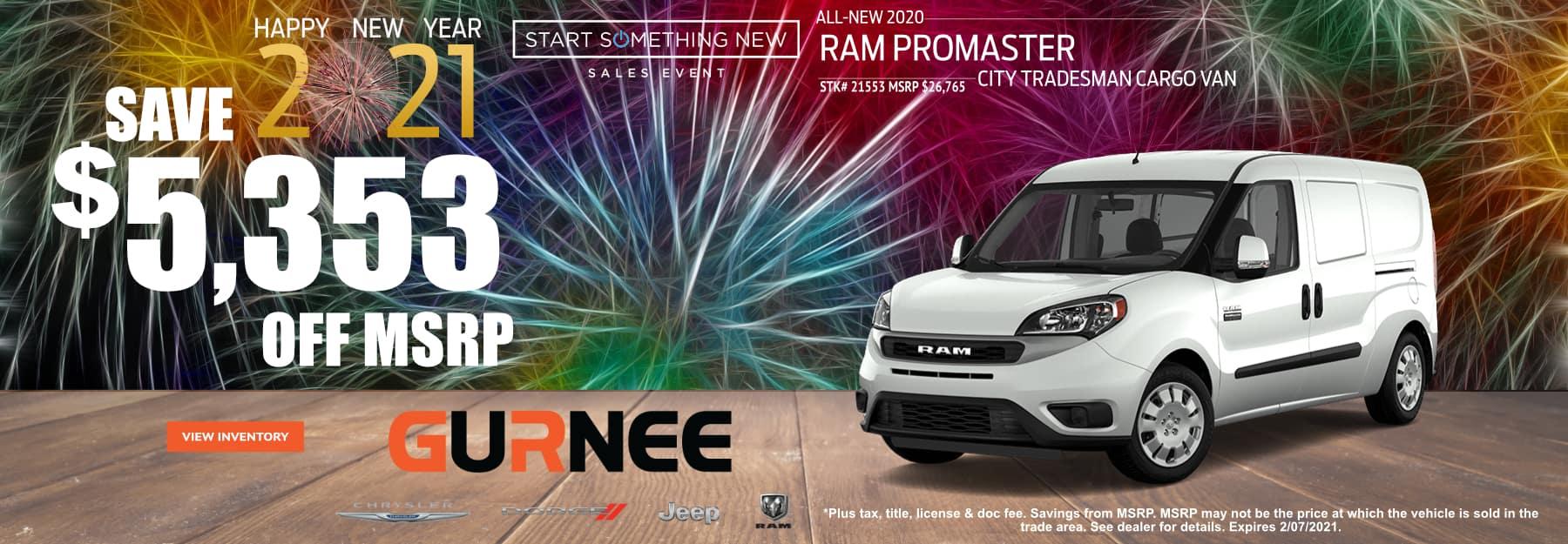 January-2021 RAM_PROMASTER_GURNEE