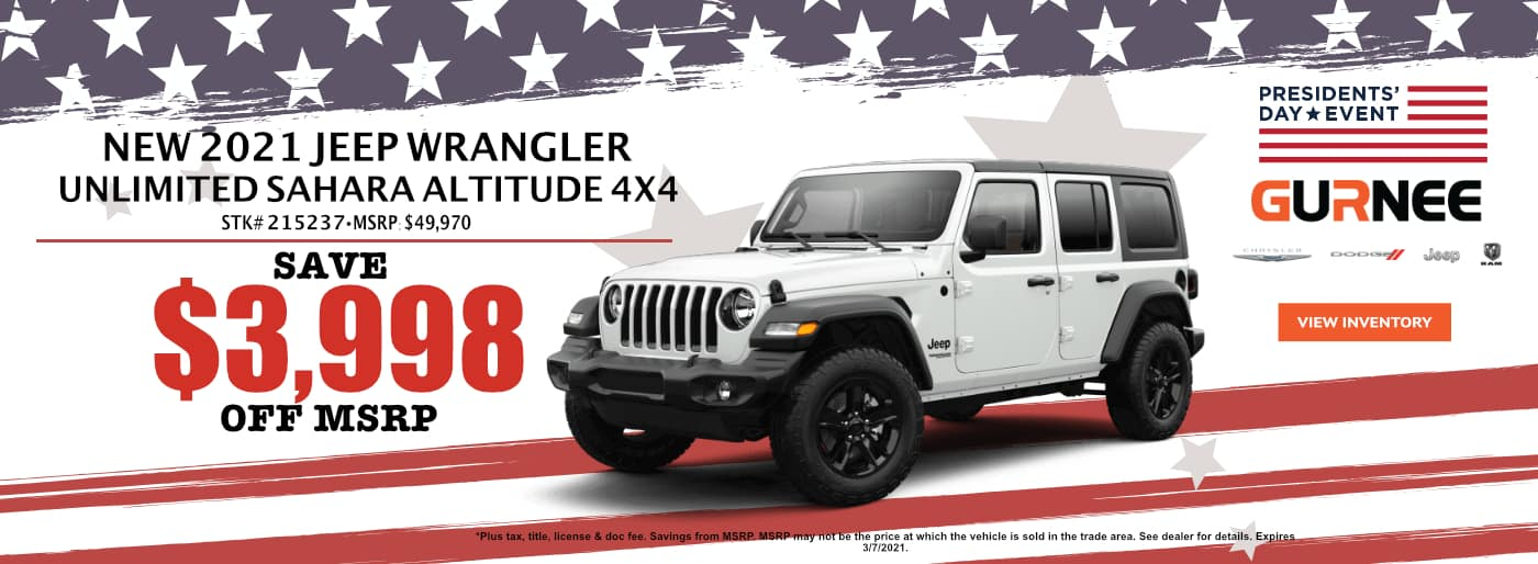 February_Jeep Wrangler Sahara_Gurnee