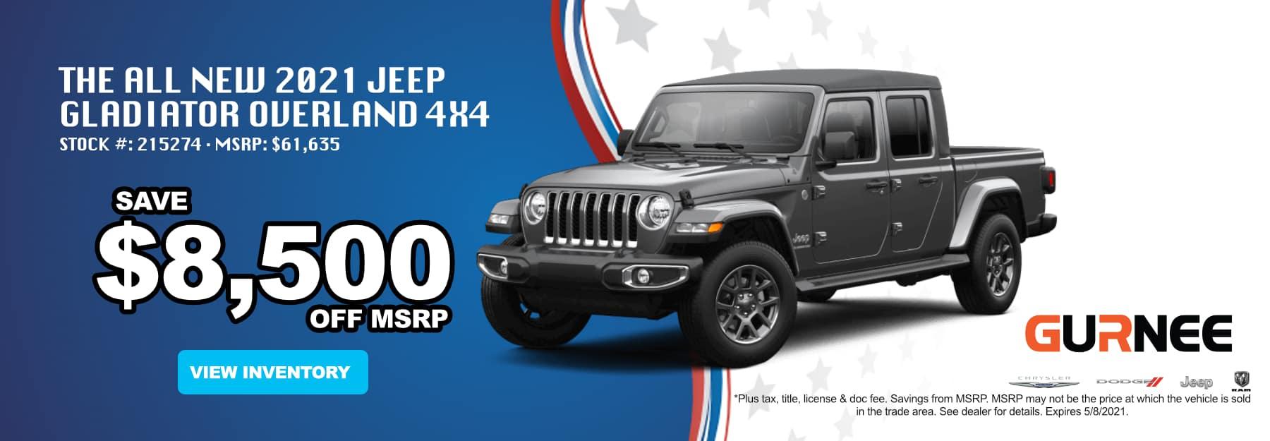 April_2021 Jeep Gladiator_Gurnee