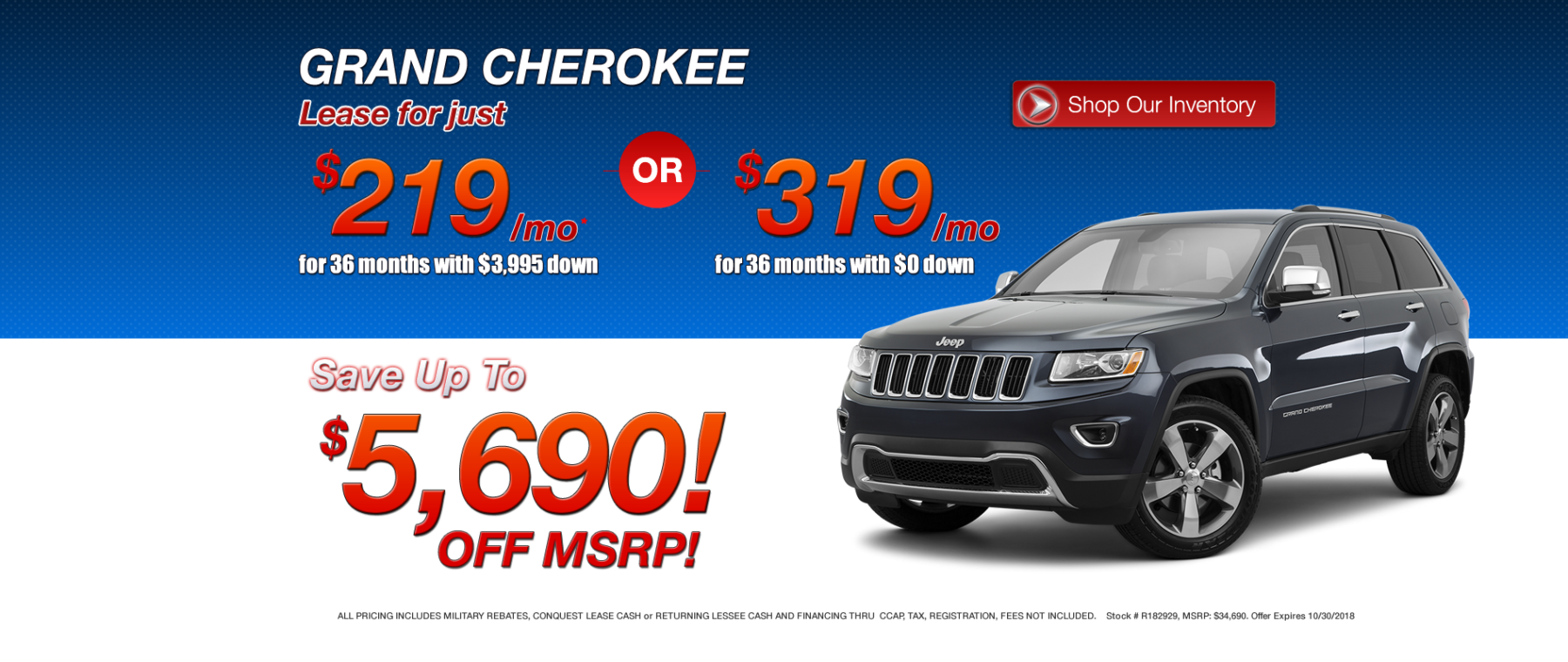 Best Grand Cherokee Lease Deals in MA