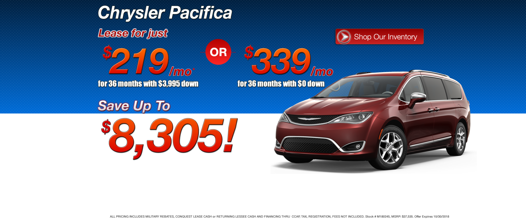 Best Chrysler Pacifica Lease Deals in MA