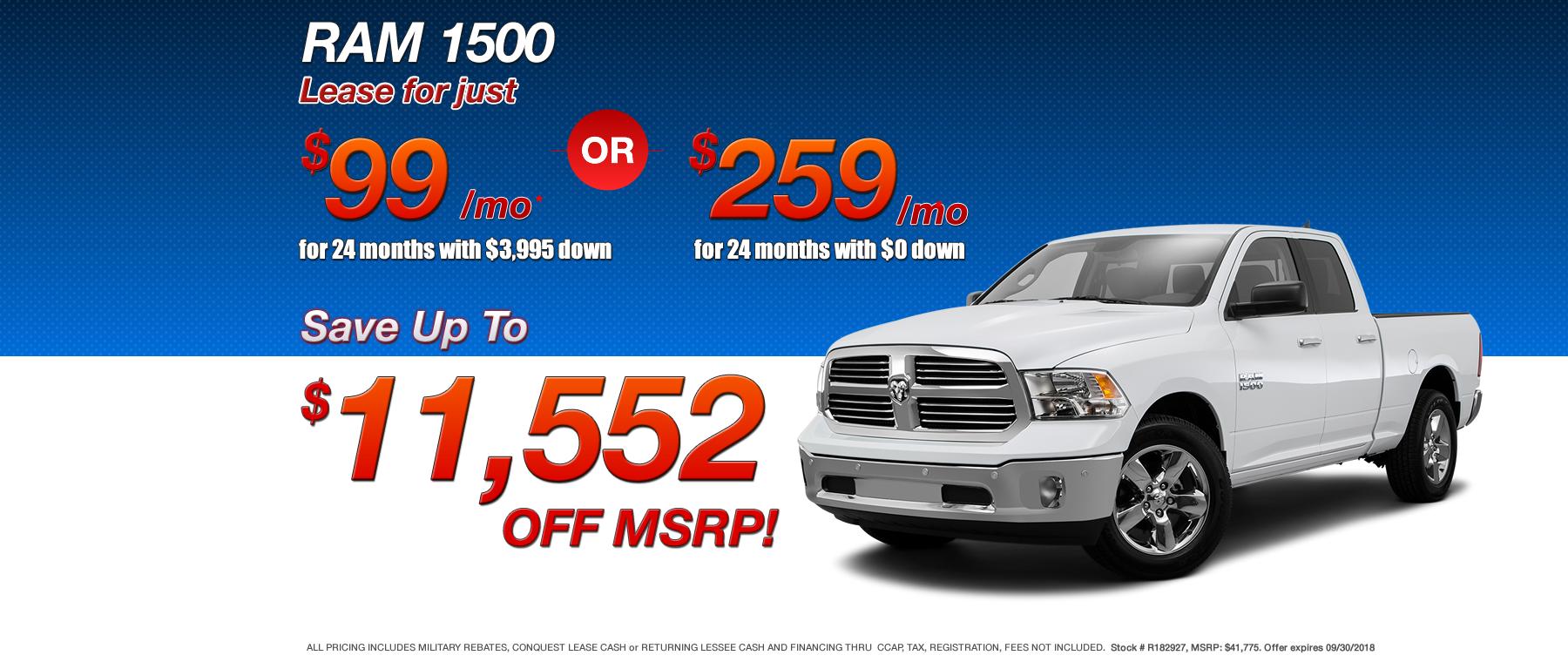 Best RAM 1500 Lease Deals in MA