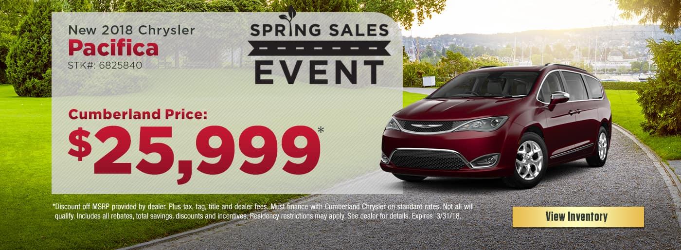 New 2018 Chrysler Pacifica Cookeville TN