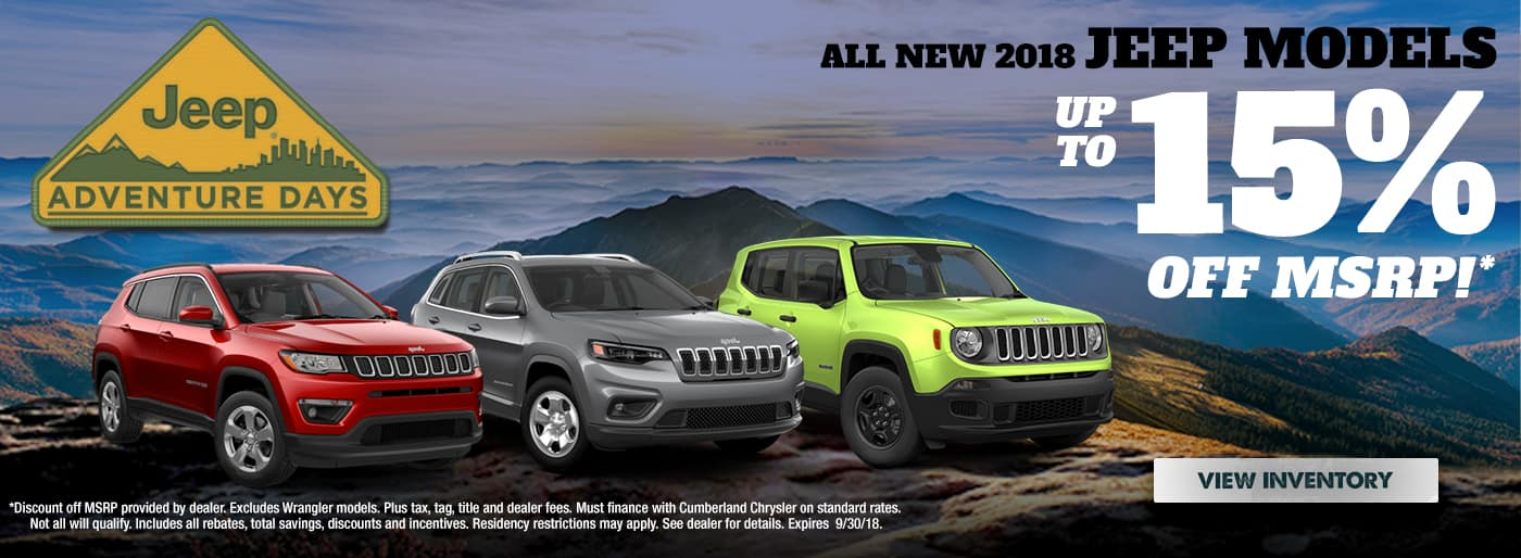New 2018 Jeep Models Cookeville TN