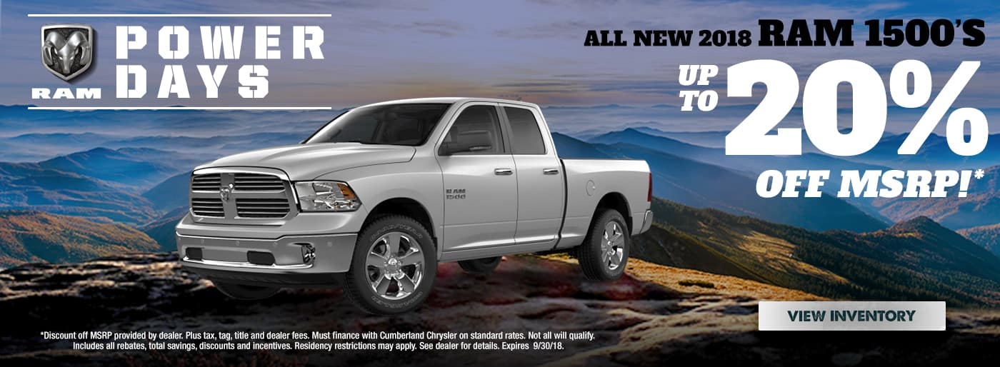 New 2018 RAM 1500 Cookeville TN