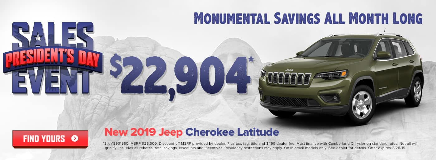 New 2019 Jeep Cherokee Cookeville TN