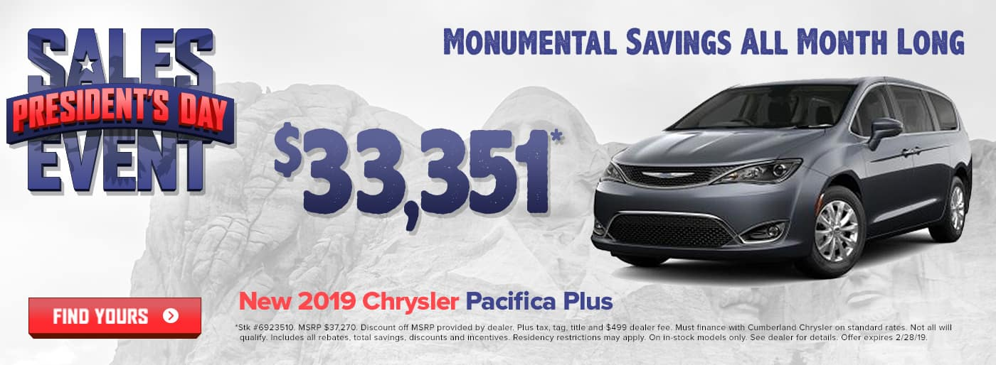 New 2019 Chrysler Pacifica Cookeville TN