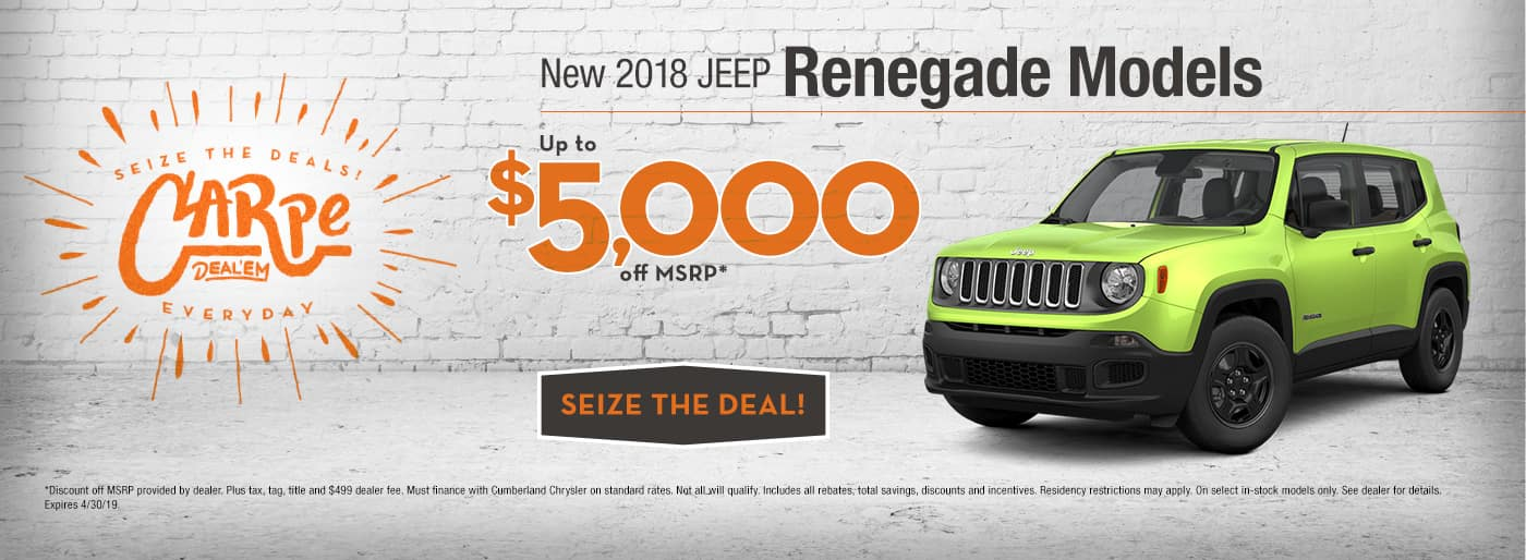 New 2018 Jeep Renegade in Cookeville, TN