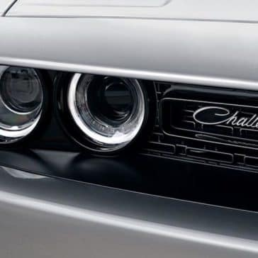 2018 Dodge Challenger headlight detail