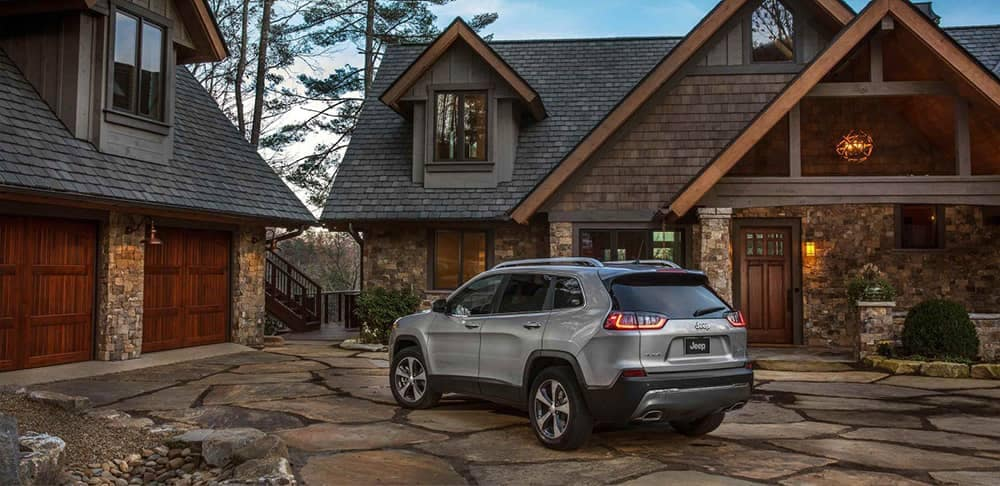 2019 Jeep Cherokee by house