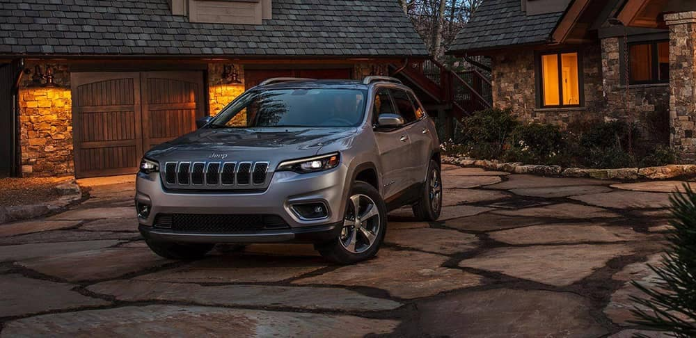 2019 Jeep Cherokee on paved driveway