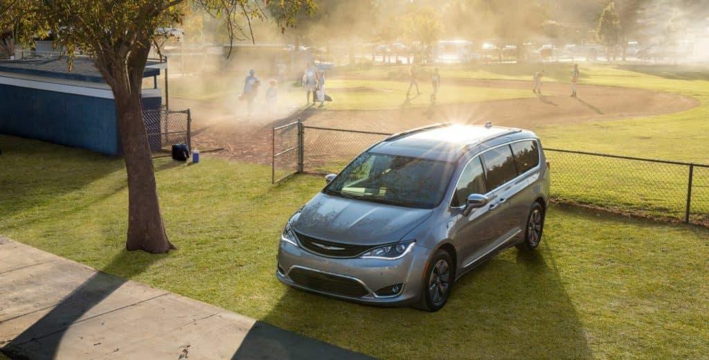 2018 Chrysler Pacifica by baseball diamond