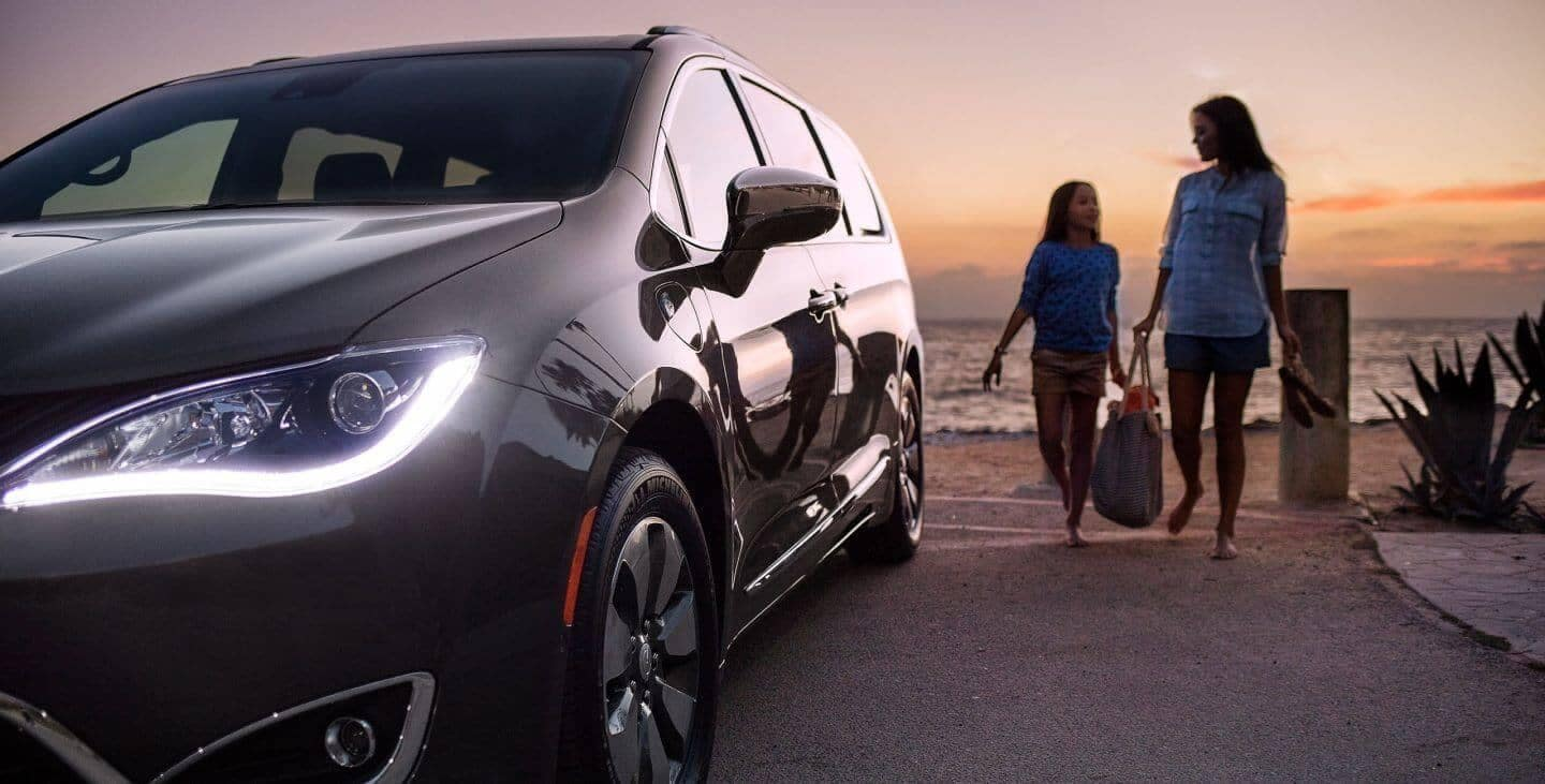 2018 Chrysler Pacifica by the beach