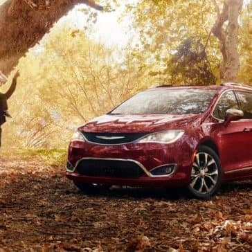 2018 Chrysler Pacifica in the forest