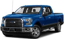 Blue 2017 Ford F-150