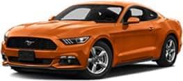 Orange 2017 Ford Mustang