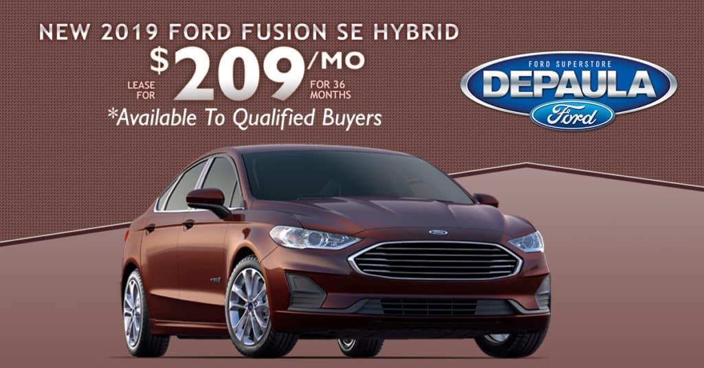 New 2019 Ford Fusion SE Hybrid