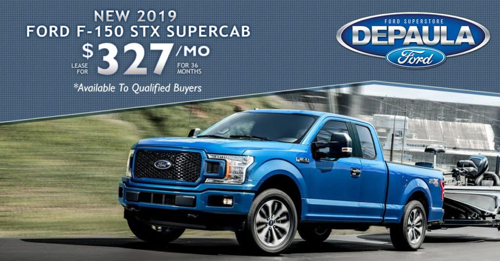 New 2019 Ford F-150 Supercab STX
