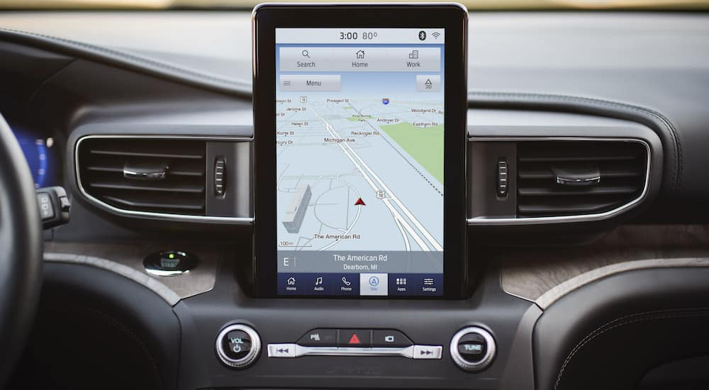 Large infotainment screen in the 2020 Ford Explorer