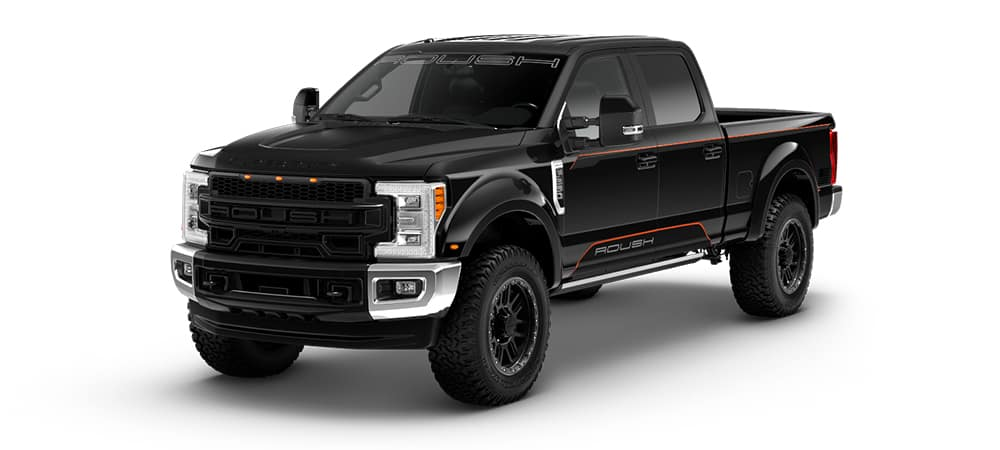A Black Rouch Super Duty F250 Pickup Truck