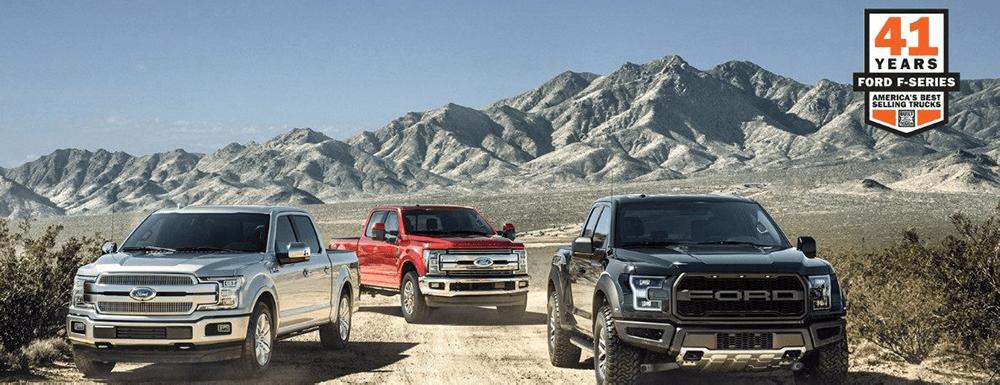Three Ford Trucks