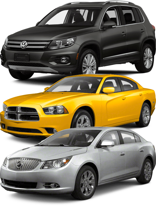 Depaula Ford wants to buy your used cars - three example cars shown