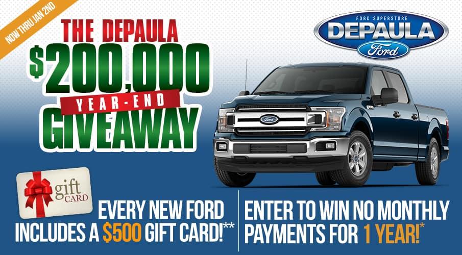 DEPAULA'S $200,000 GIVEAWAY | DePaula Ford