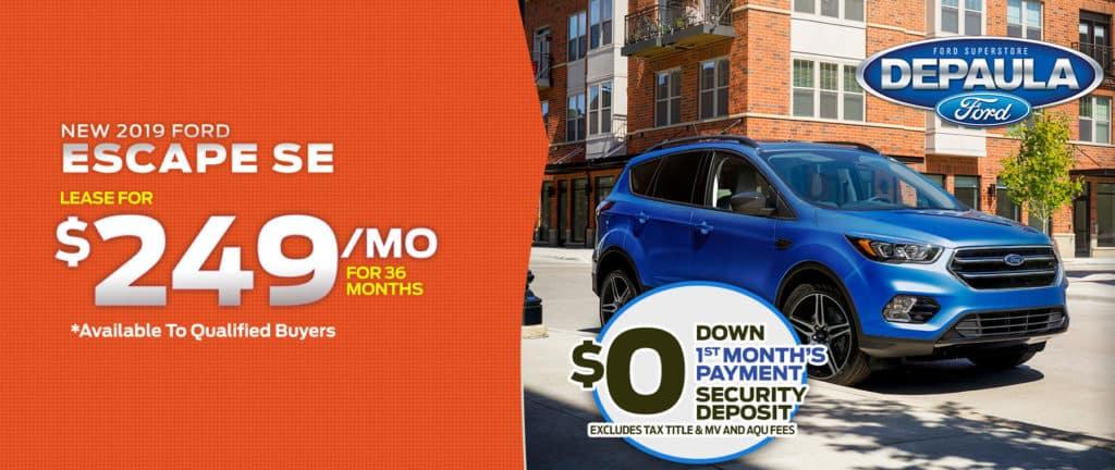 New 2019 Ford Escape SE 4WD